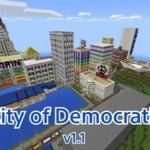Карта для Майнкрафт ПЕ Город Демократии