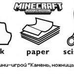 Мини-игра «Камень, Ножницы, Бумага» для Майнкрафт ПЕ